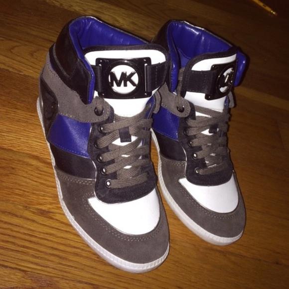 Michael Kors Shoes   Nikko Wedge Sneakers   Poshmark 457b6be800c